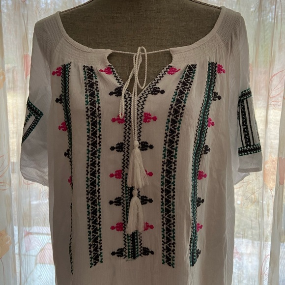 Gibson Latimer Dresses & Skirts - Gibson Latimer white lined casual dress XXL